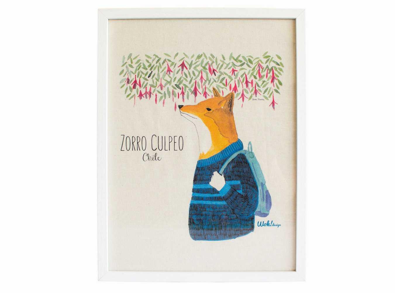 Cuadro 30 x 40 Zorro