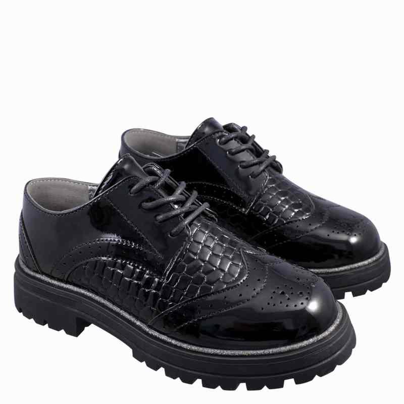 Zapato Oxford Niña Negro Fagus 2FZ7020
