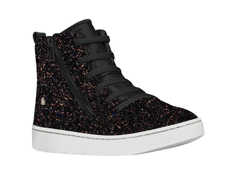 Zapatilla Caña Glitter Negra