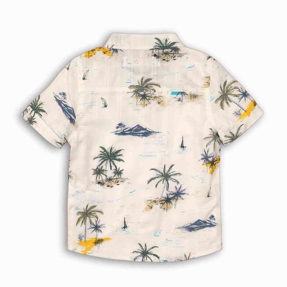 Camisa estampada con Ribetes