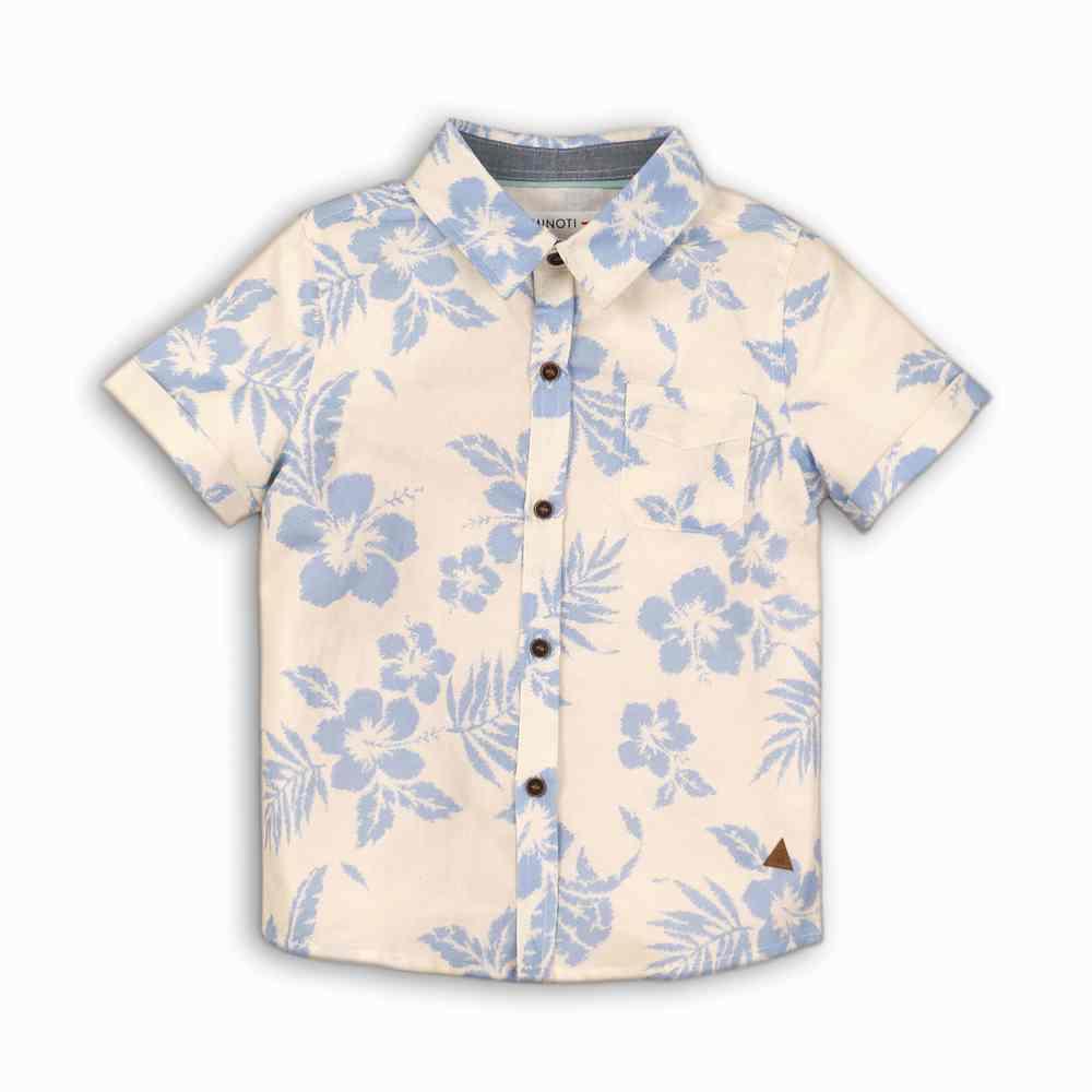 Camisa de lino con estampado