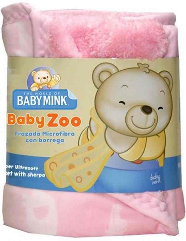 Frazada Baby Zoo Rosa