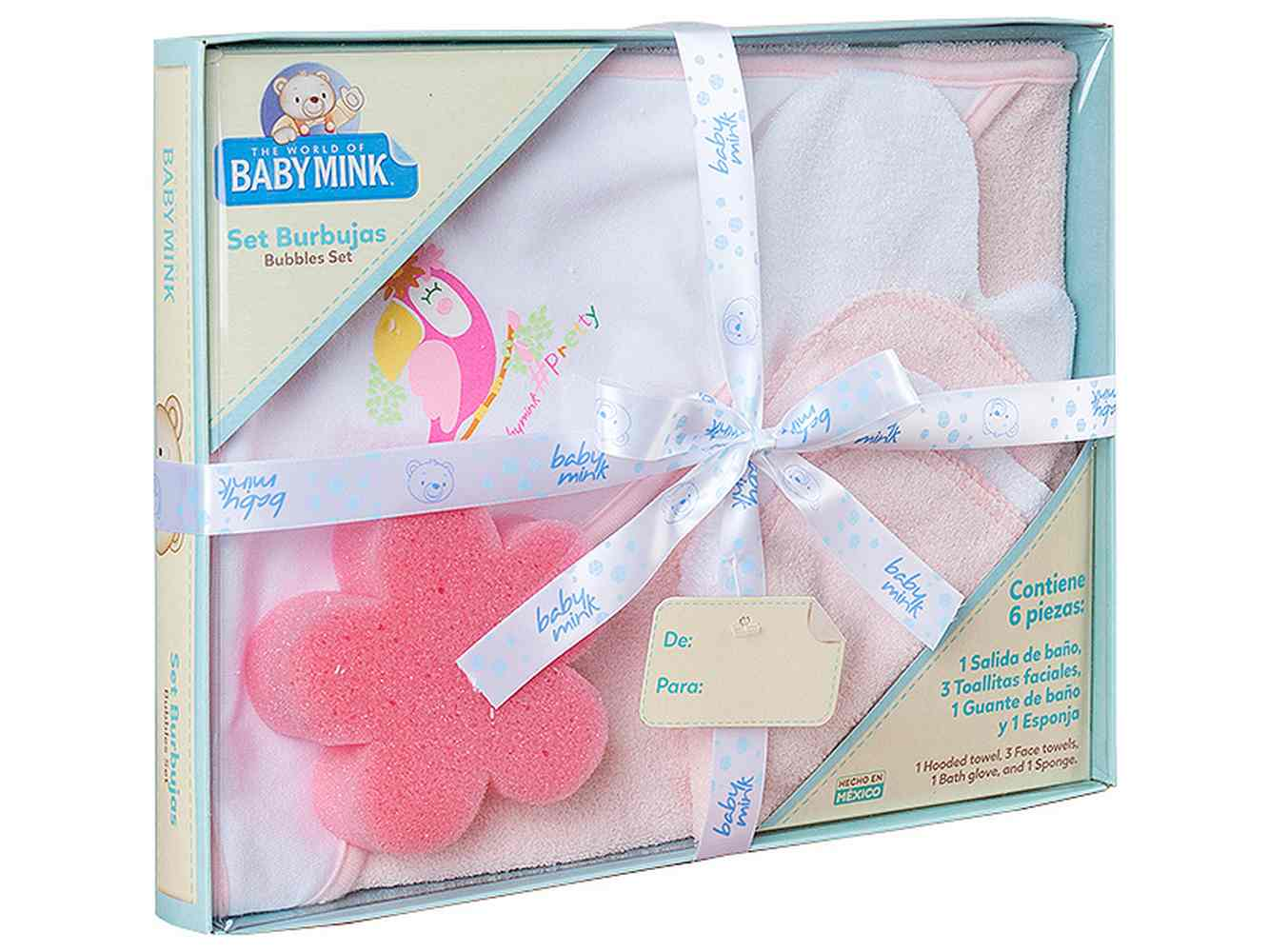 Set de Baño Kit Burbujas Rosa