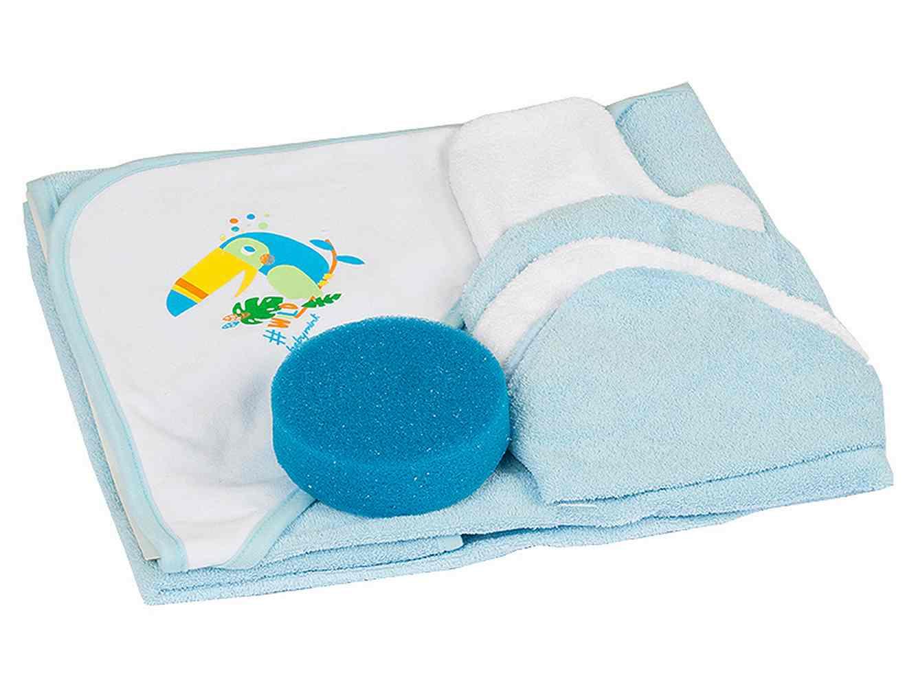 Set de Baño Kit Burbujas Azul