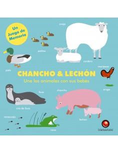 Juego de Memoria - Chancho & lechón: Une los animales con sus bebés