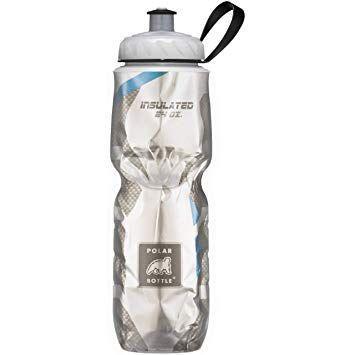 Botella De Agua Polar Bottle Sport Insulated Carbon Fiber Blue 710Ml