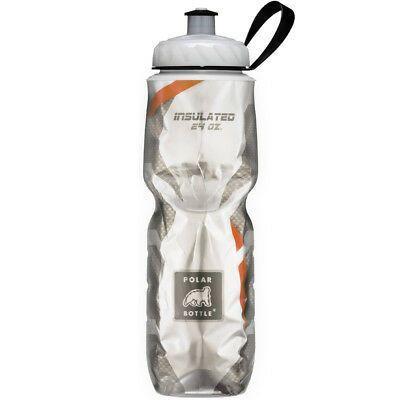 Botella De Agua Polar Sport Insulated Carbon Fiber Orange 710Ml