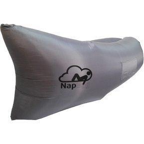 Sillón Gris Inflable Napbag Premium Con Bolsillos