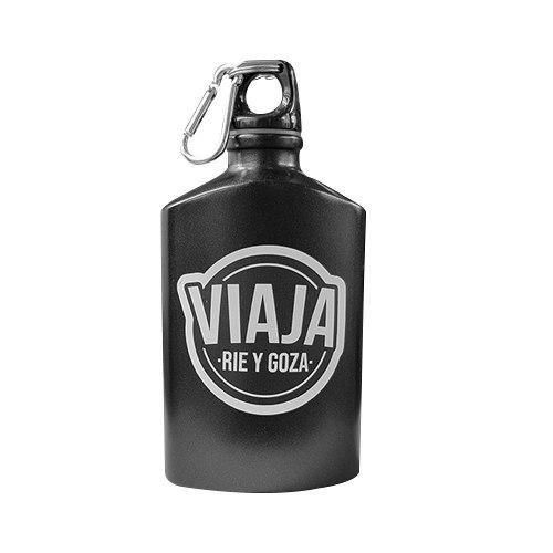 Botella De Agua De Aluminio Negra De 450 Ml