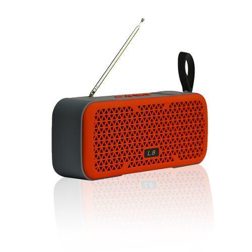 Parlante Bluetooth Portátil Lhotse L8 Rojo Radio
