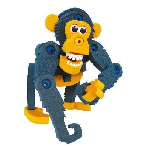Animal Mono Armable Eva Divertido Azul Amarillo