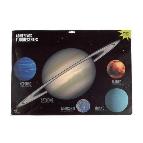 Calcamonias Stickers Luminosos Planetas Brillan Xl
