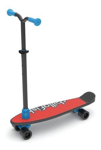 Monopatin Scooter - Skate Chillafish Negro Cuatro Ruedas