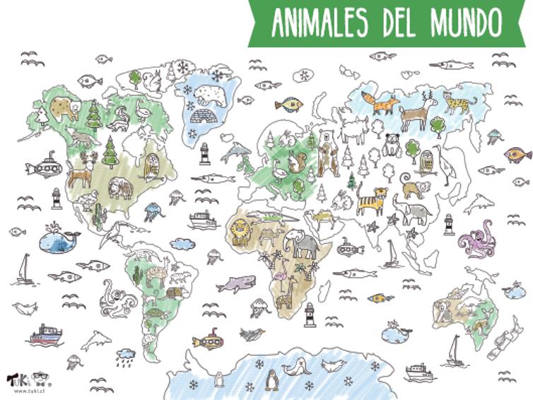 Poster XXL - Animales del mundo