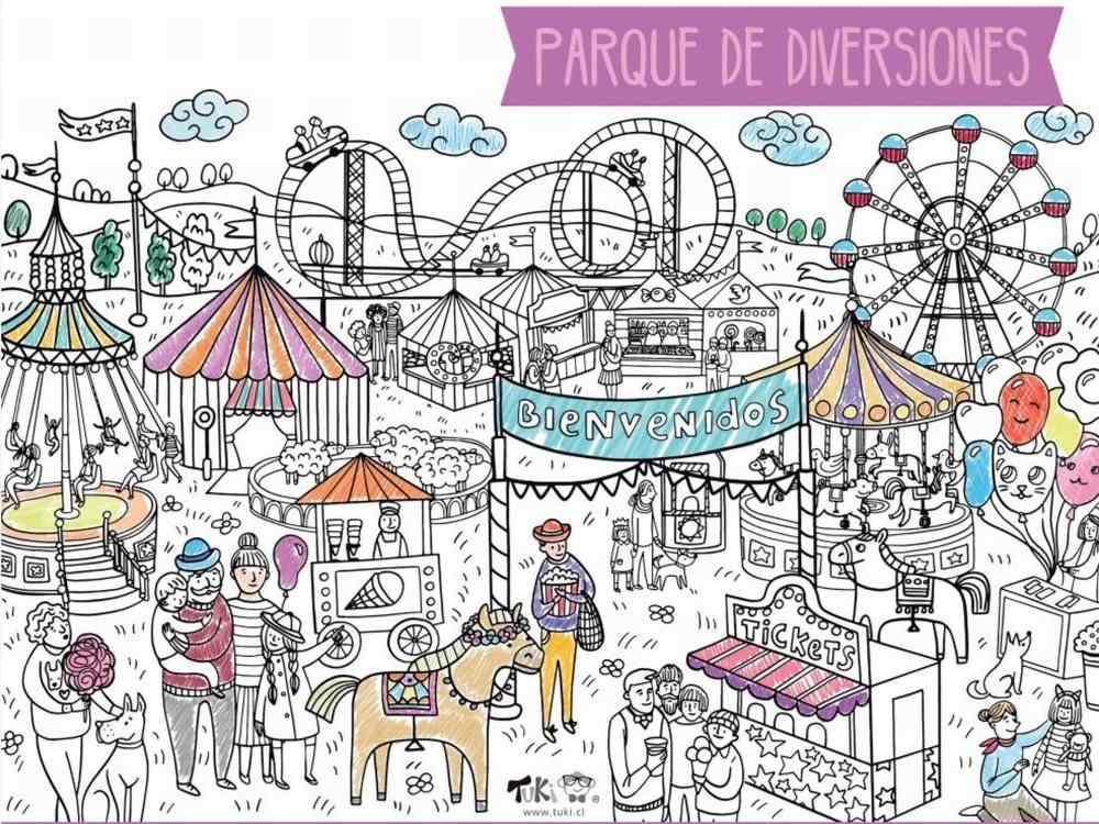 Poster XXL - Parque de Diversiones