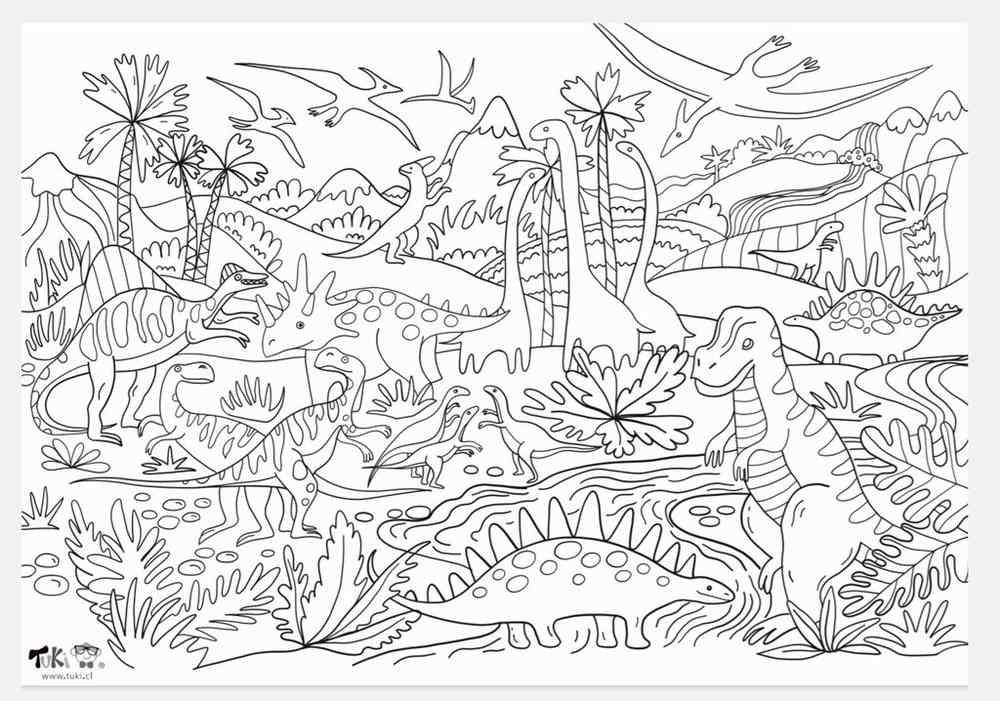 Poster XXL - Tierra de Dinosaurios