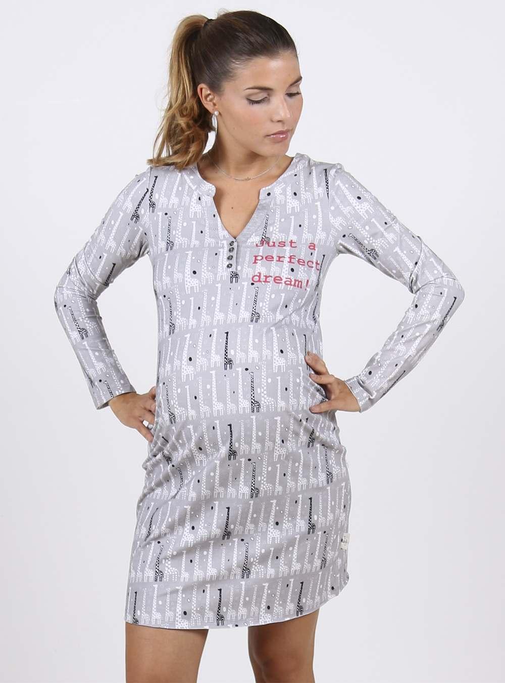 Camisa De Dormir Estampada Jirafas