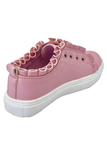 Zapatillas Con Vuelo Rosadas