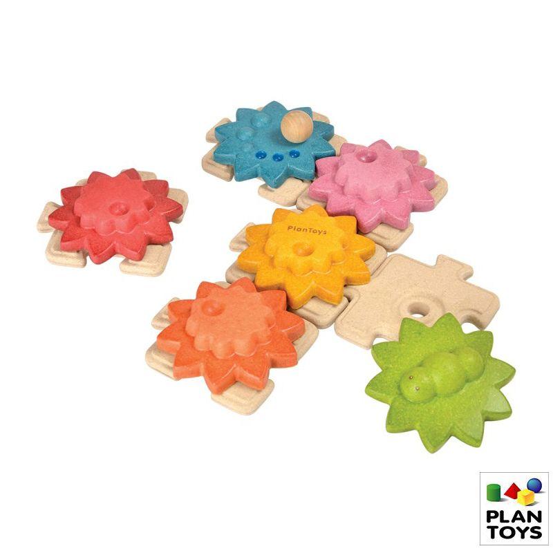 Engranajes de madera + puzzle estandar
