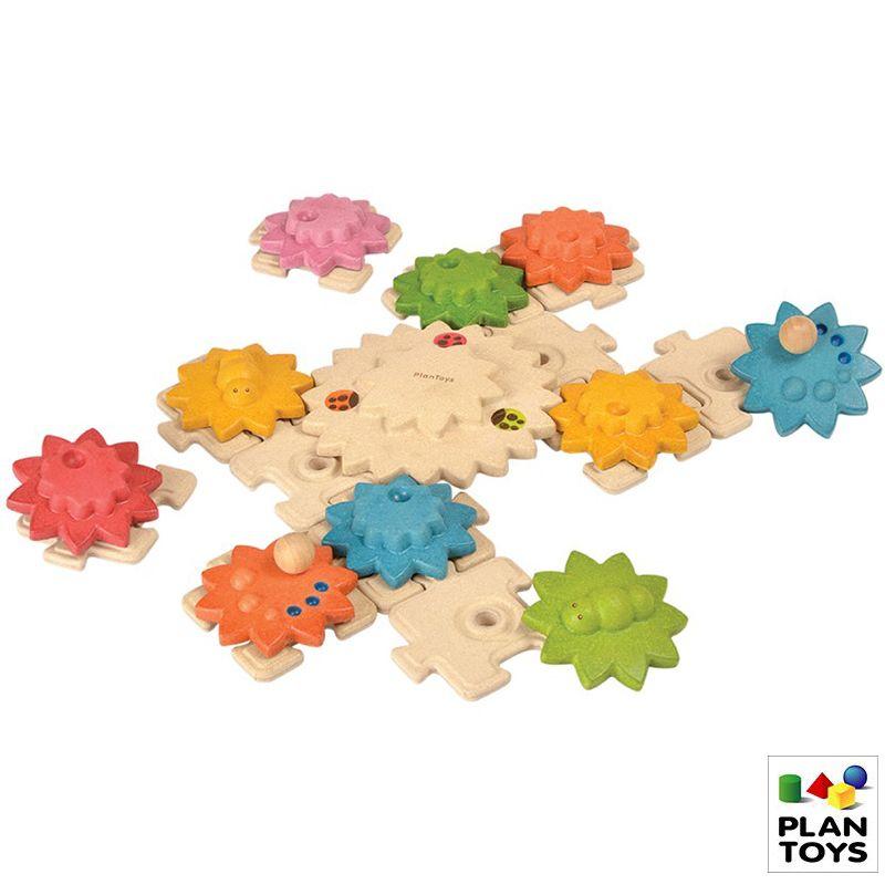 Engranajes de madera + puzzle deluxe madera