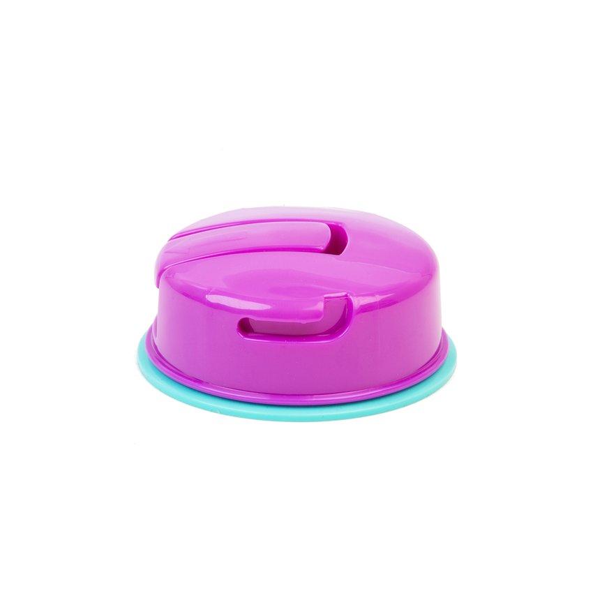 Bowl con base de succión rosado-turquesa