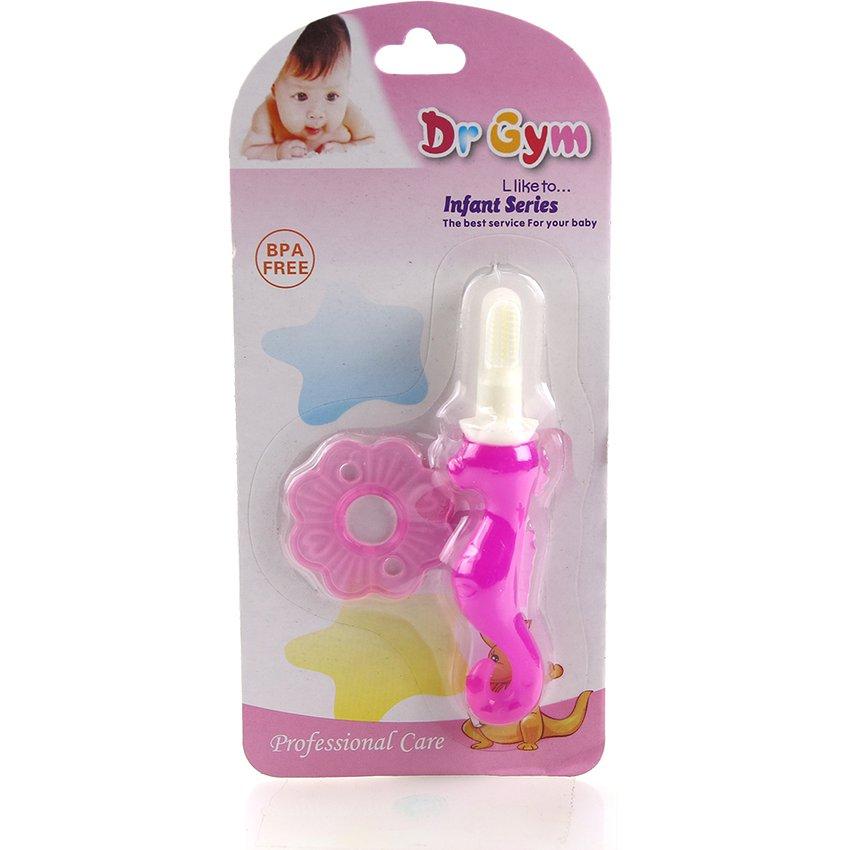 Cepillo De Dientes Caballito Entrenador Para Bebés -Pink