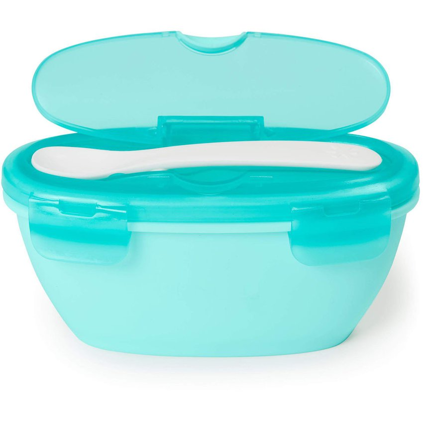 Bowl & Spoon Easy-Serve Travel - Teal Skip Hop