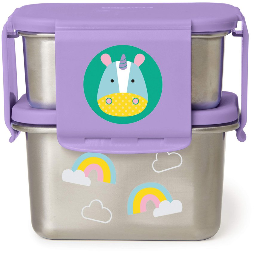 Kit Contenedores Lunch Zoo -Unicorn Skip Hop