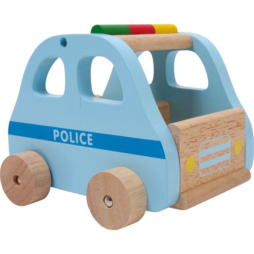 Autos de Madera Policía Color Azul Niño