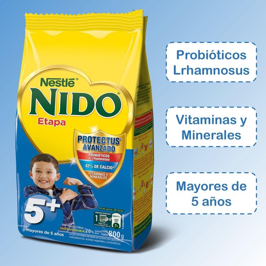 Leche Nido 5+ Protectus® 800g Bolsa