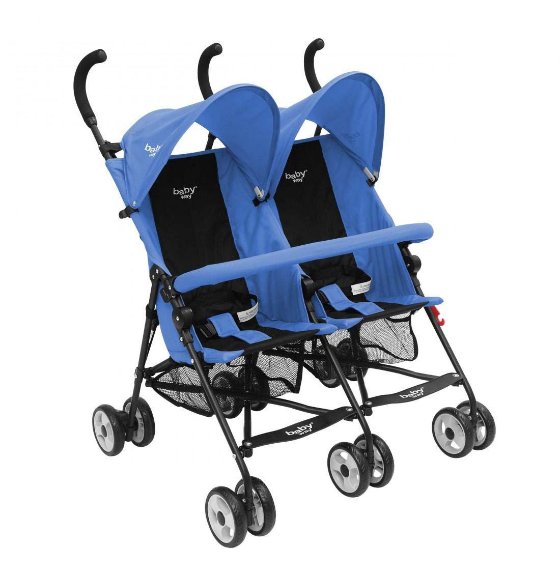 Coche Paragua Doble Baby Way Azul