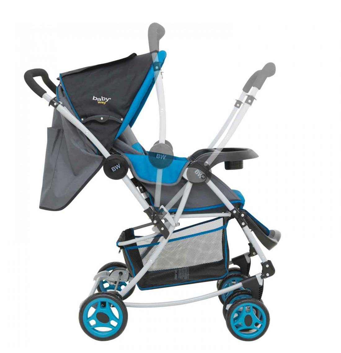 Coche Cuna Balancin Baby Way Azul