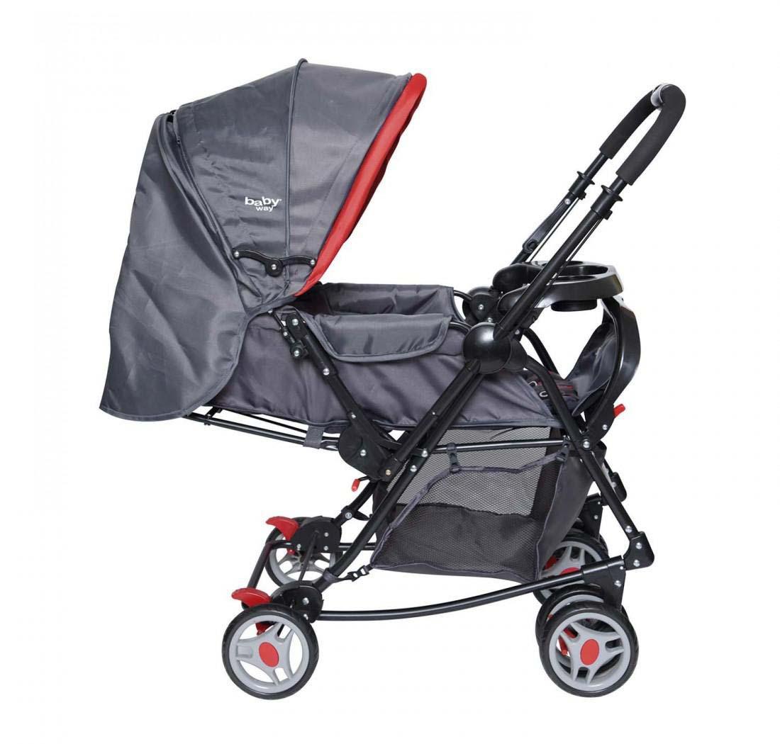 Coche Cuna Balancin Baby Way Bw-309 Rojo