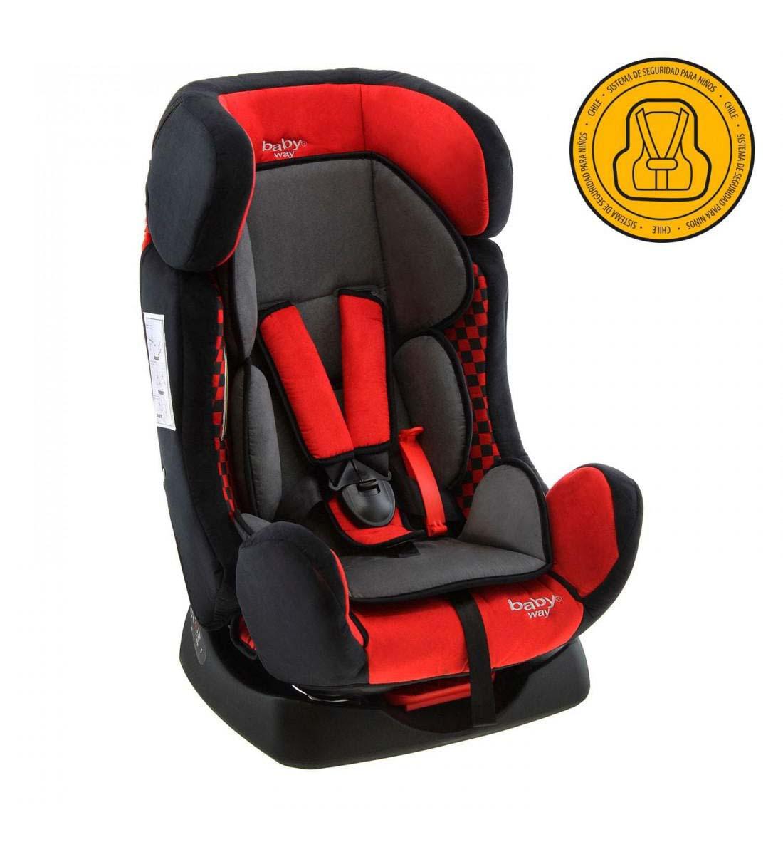 Butaca De Auto Baby Way Reclinable Bw-742 Roja