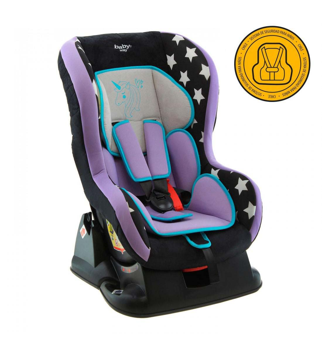Butaca De Auto Baby Way Unicornio Bw-743M19