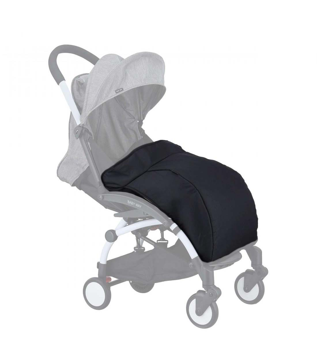 Cubre Pie Coche Paraguas Baby Way Bw-Cp01 Negro