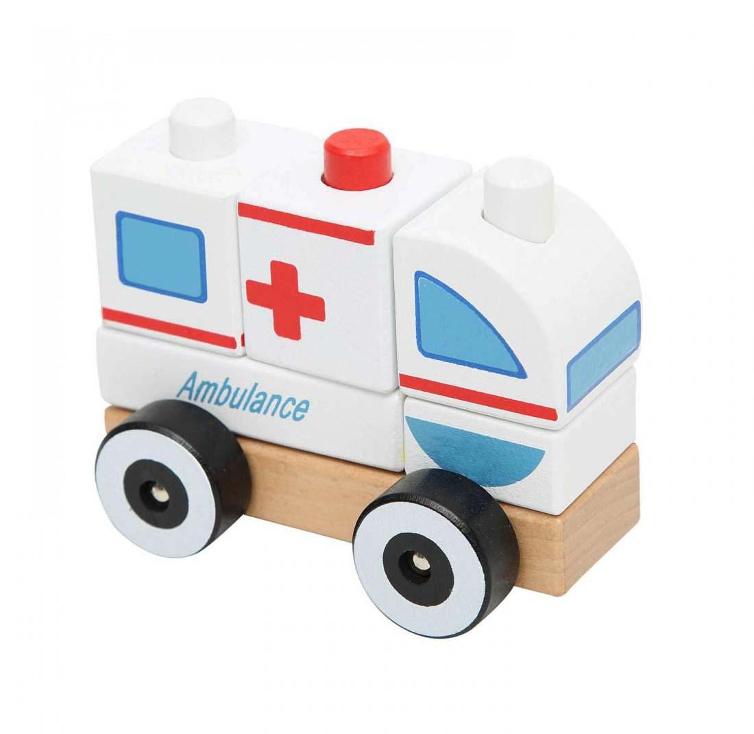 Juguete Madera Didactico Ambulancia Baby Way