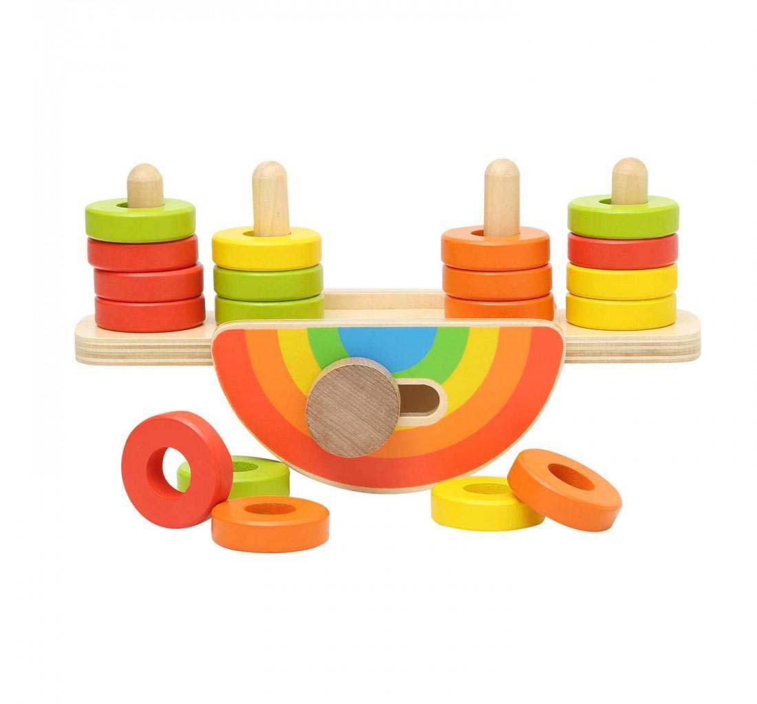 Juguete Madera Argollas Balancin Baby Way
