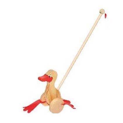 Juguete de Madera Pato para Empujar Bebé