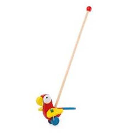 Juguete de Madera  para empujar diseño Papagayo Bebé