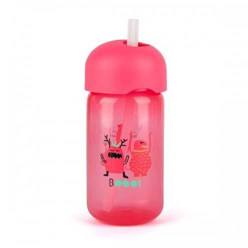 Botella Pajita Booo Rosa