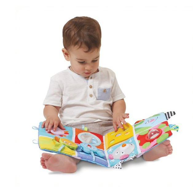 Libro de actividades Cot Play Center - Juguete De Estimulación De 3 Etapas