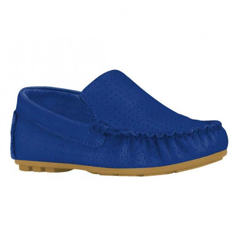 Mocasin Cuero Azul