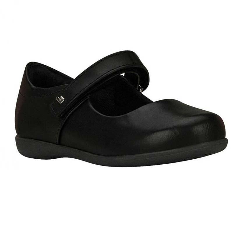 Zapato Escolar Cuero Negro
