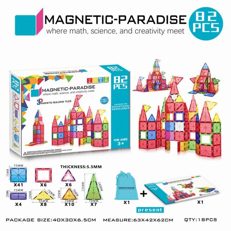 Set magnetics 82 Piezas