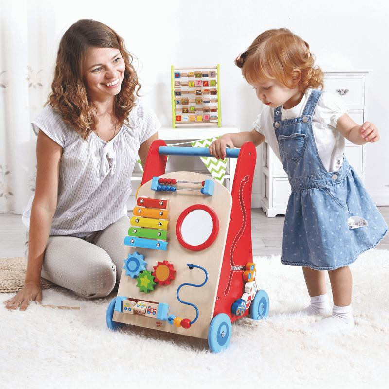 Caminador y Centro de Actividades para Bebé Madera