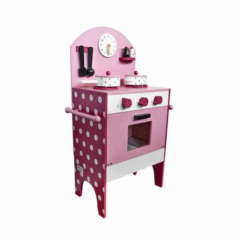 Cocina De Madera Gamepower Rosa