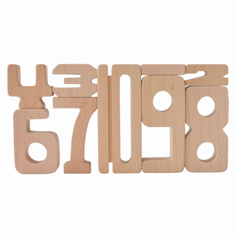 Woodis Números, Set Mediano, 30 Piezas