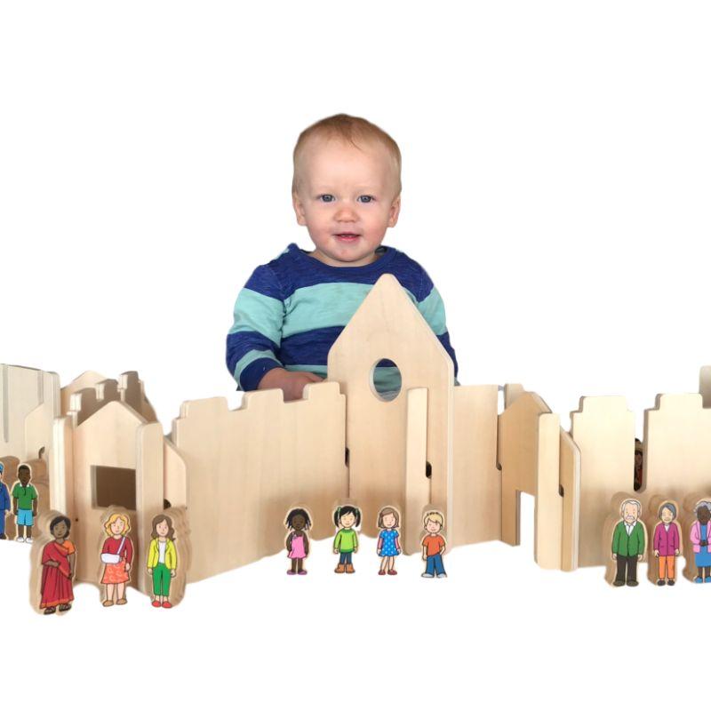 Woodis Constructor Natural, Set Chico, 14 Piezas