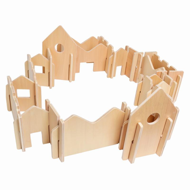 Woodis Constructor Natural, Set Grande, 28 Piezas